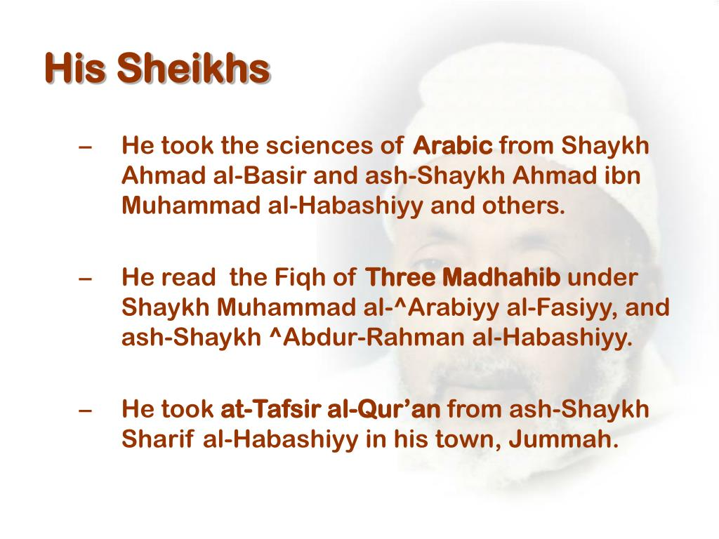 His Sheikhs