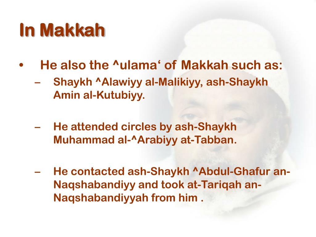 In Makkah