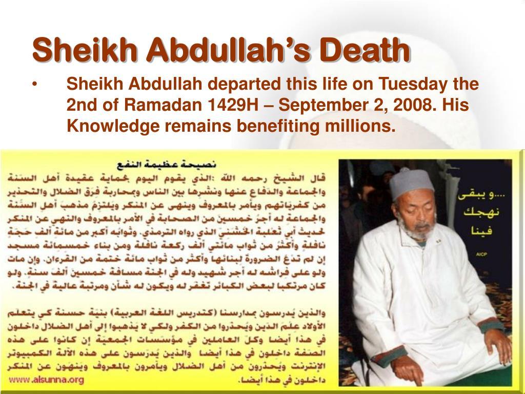 Sheikh Abdullah's Death