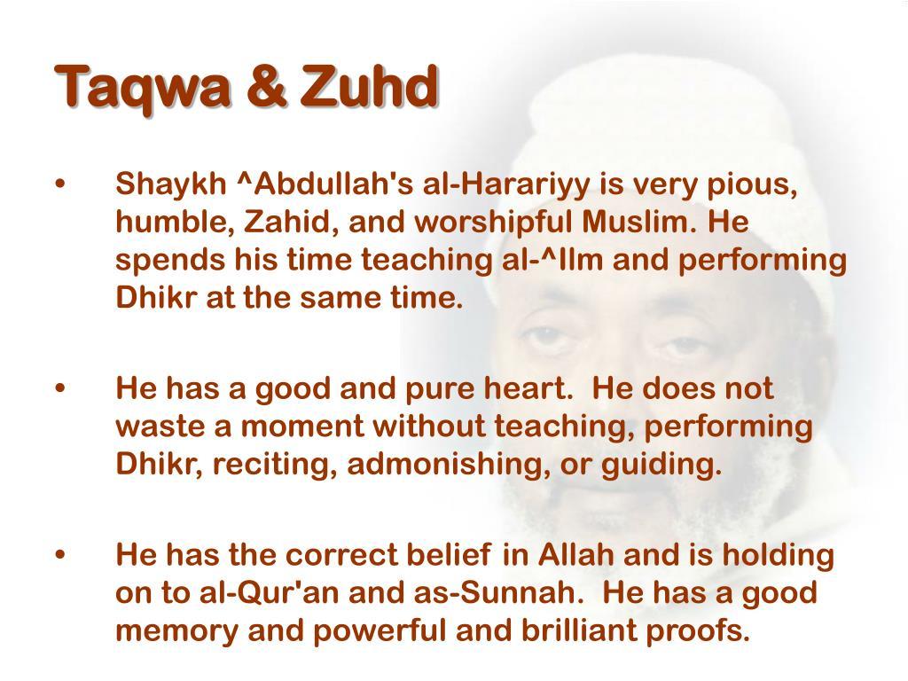 Taqwa & Zuhd