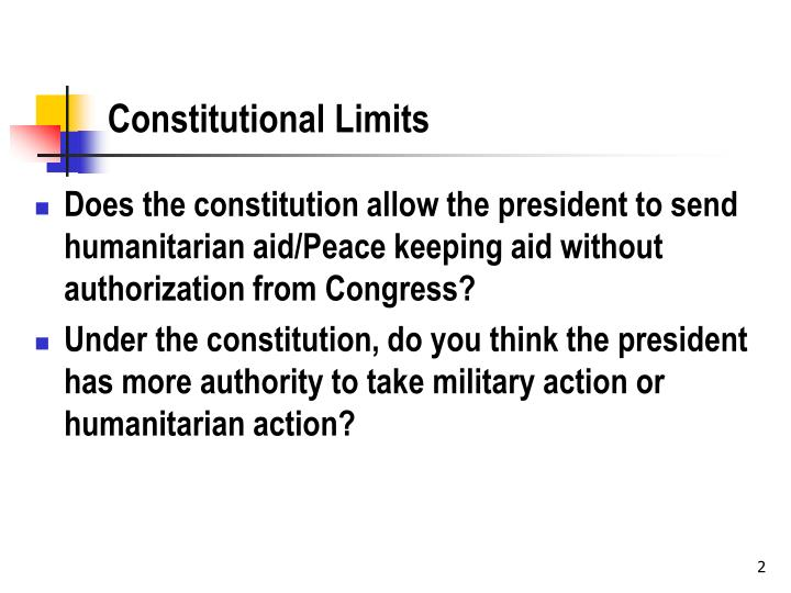 Constitutional limits