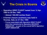 the crisis in bosnia14
