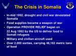 the crisis in somalia