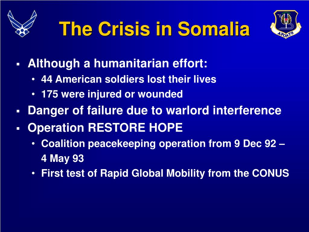 The Crisis in Somalia