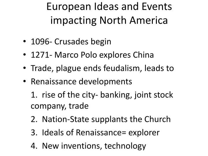 European Ideas and Events