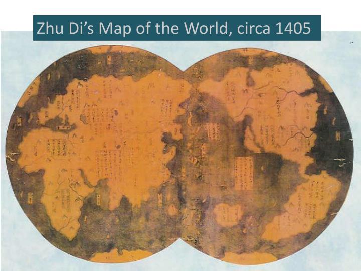 Zhu Di's Map of the World, circa 1405
