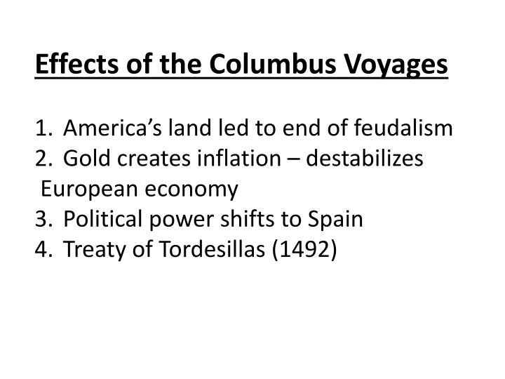 Effects of the Columbus Voyages