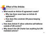 effect of the articles