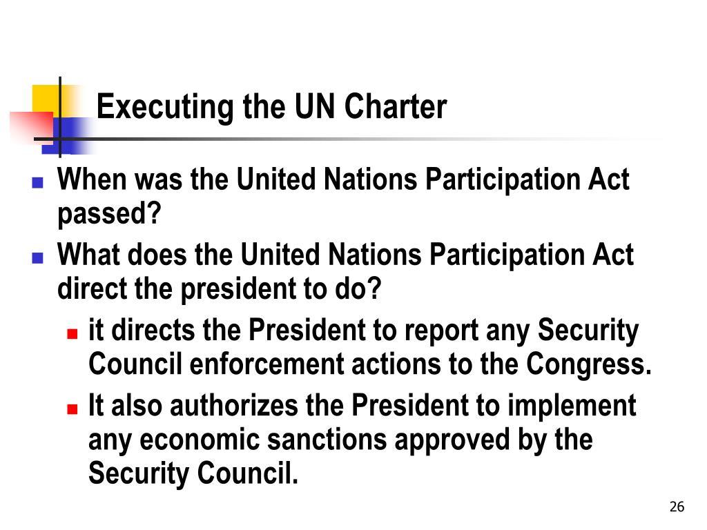 Executing the UN Charter