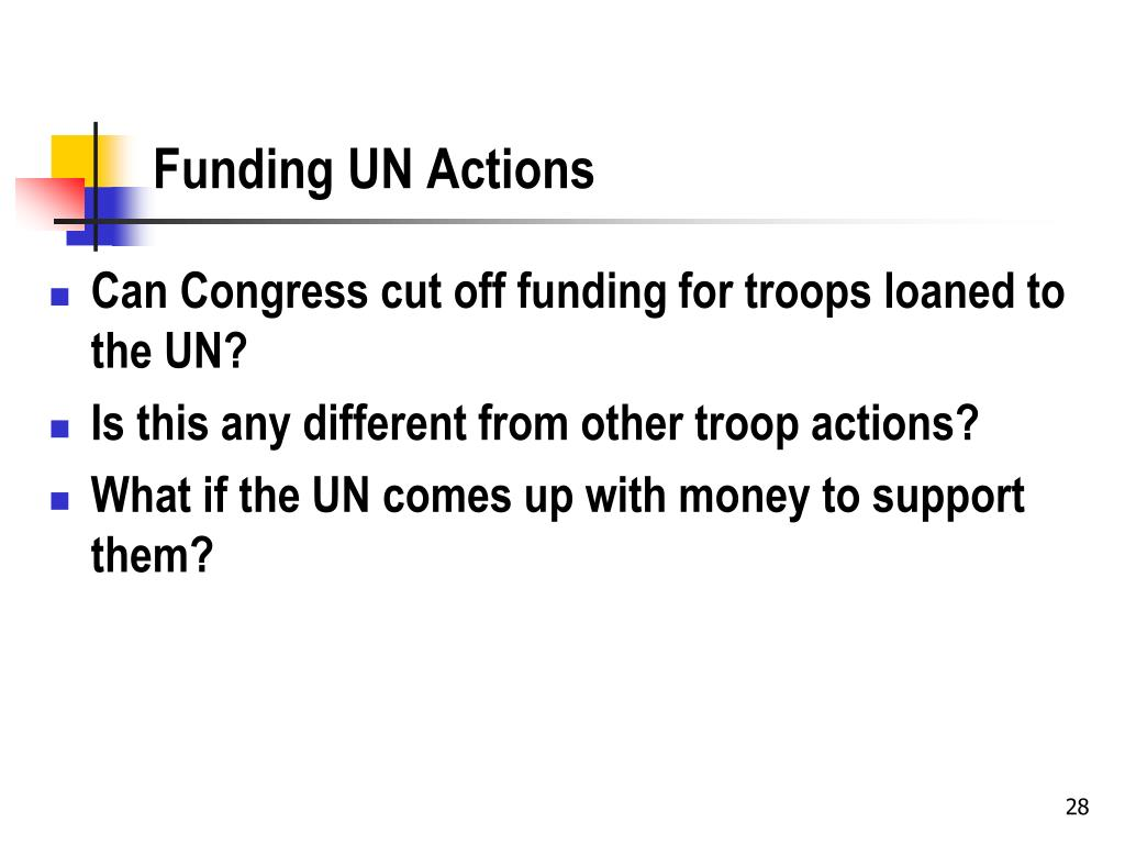 Funding UN Actions
