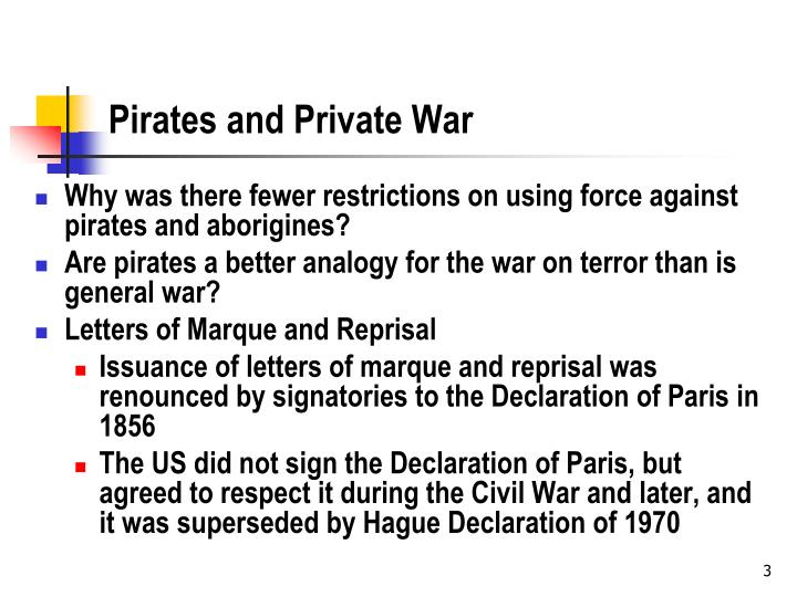 Pirates and private war
