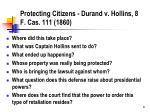 protecting citizens durand v hollins 8 f cas 111 1860