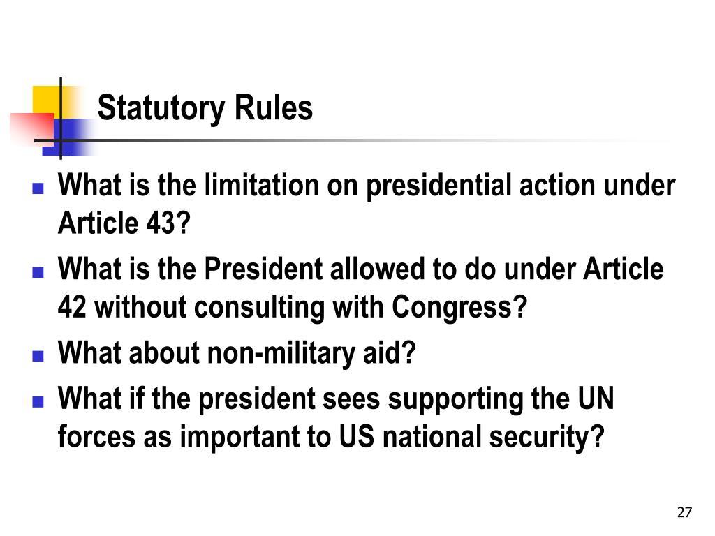 Statutory Rules