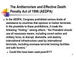 the antiterrorism and effective death penalty act of 1996 aedpa