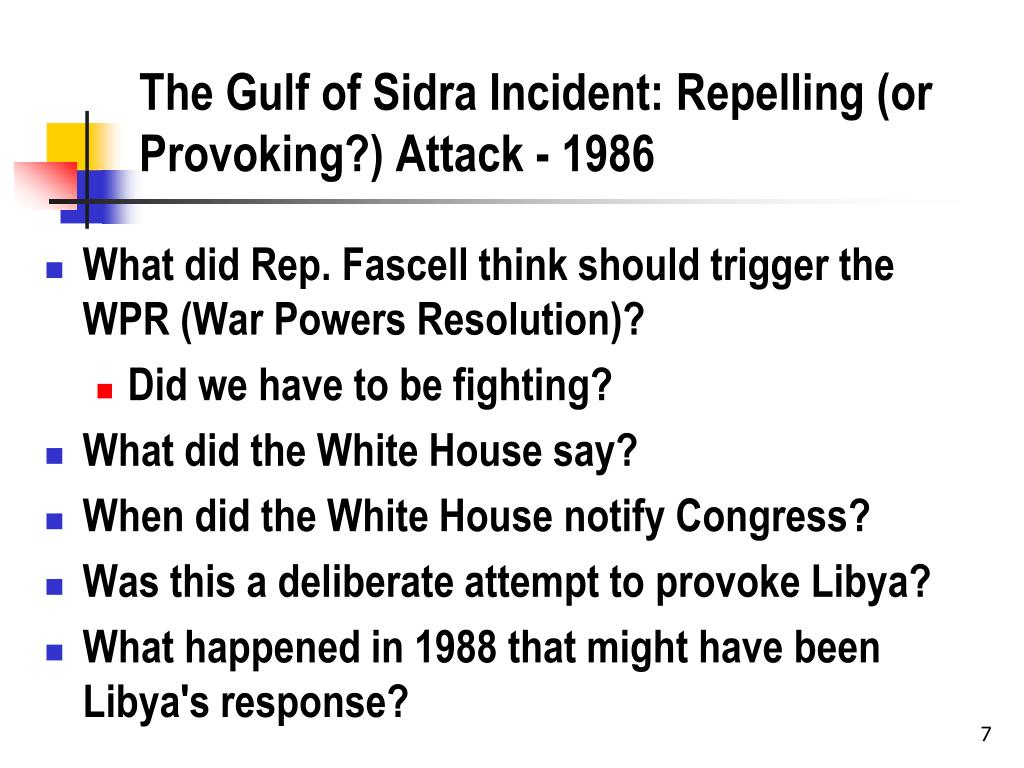 The Gulf of Sidra Incident: Repelling (or Provoking?) Attack - 1986