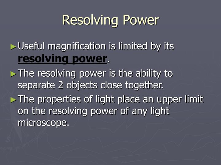 Resolving Power