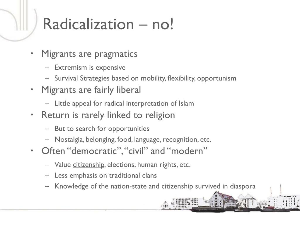 Radicalization – no!