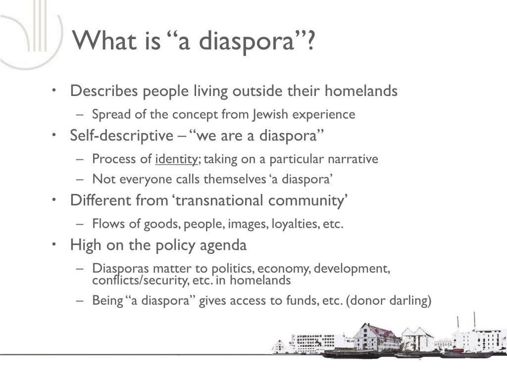 """What is """"a diaspora""""?"""