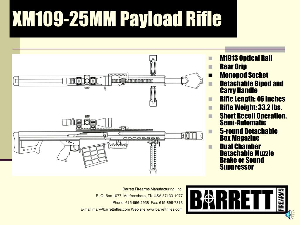 XM109-25MM Payload Rifle