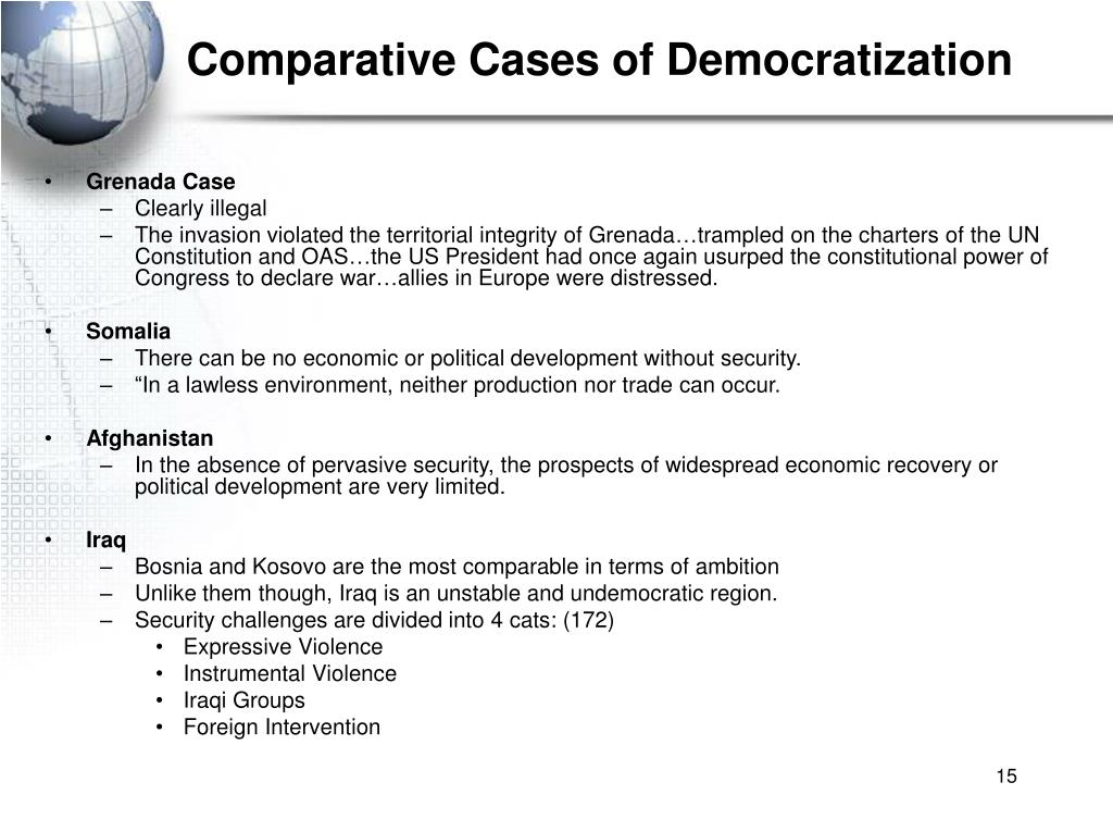 Comparative Cases of Democratization
