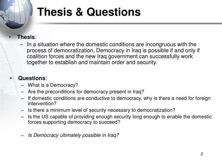Thesis questions