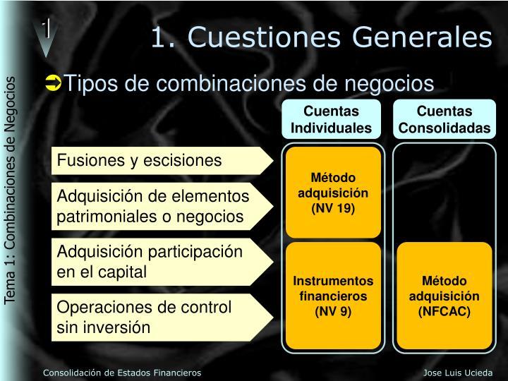 1. Cuestiones Generales