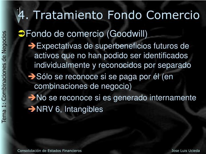 4. Tratamiento Fondo Comercio