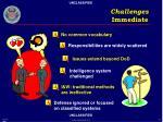 challenges immediate