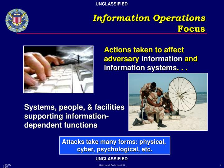 Information operations focus