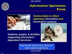 information operations focus
