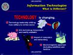 information technologies what is different19