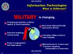 information technologies what is different20