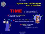 information technologies what is different21