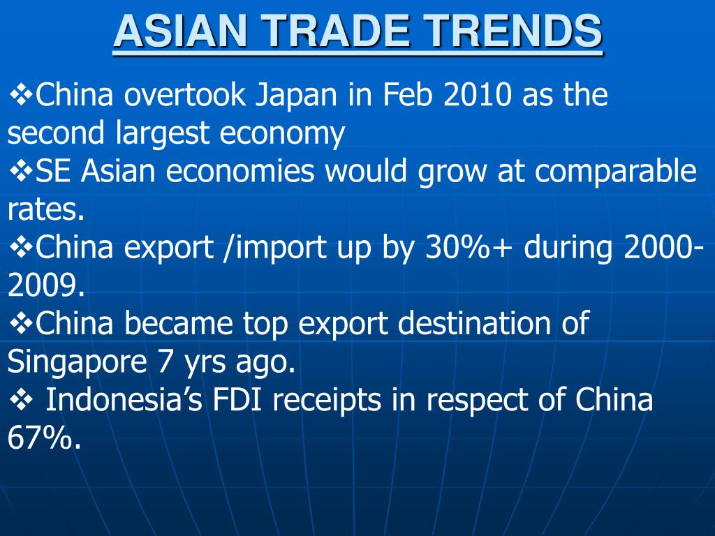 ASIAN TRADE TRENDS