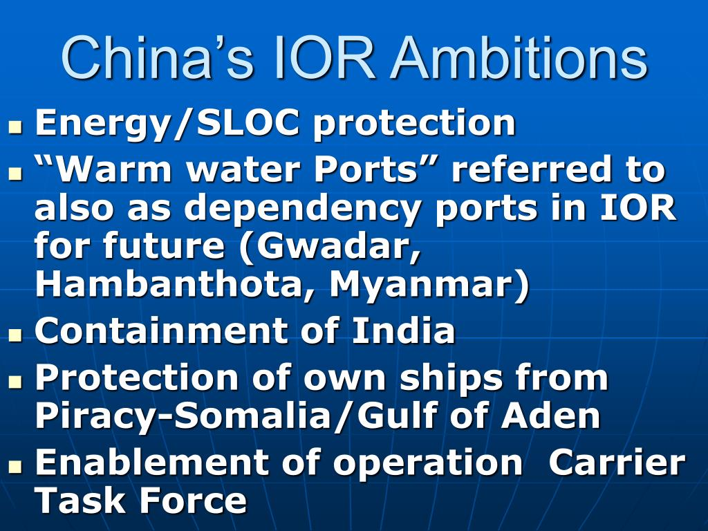 China's IOR Ambitions