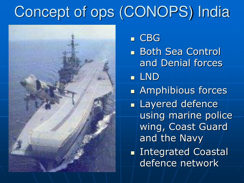 Concept of ops (CONOPS) India