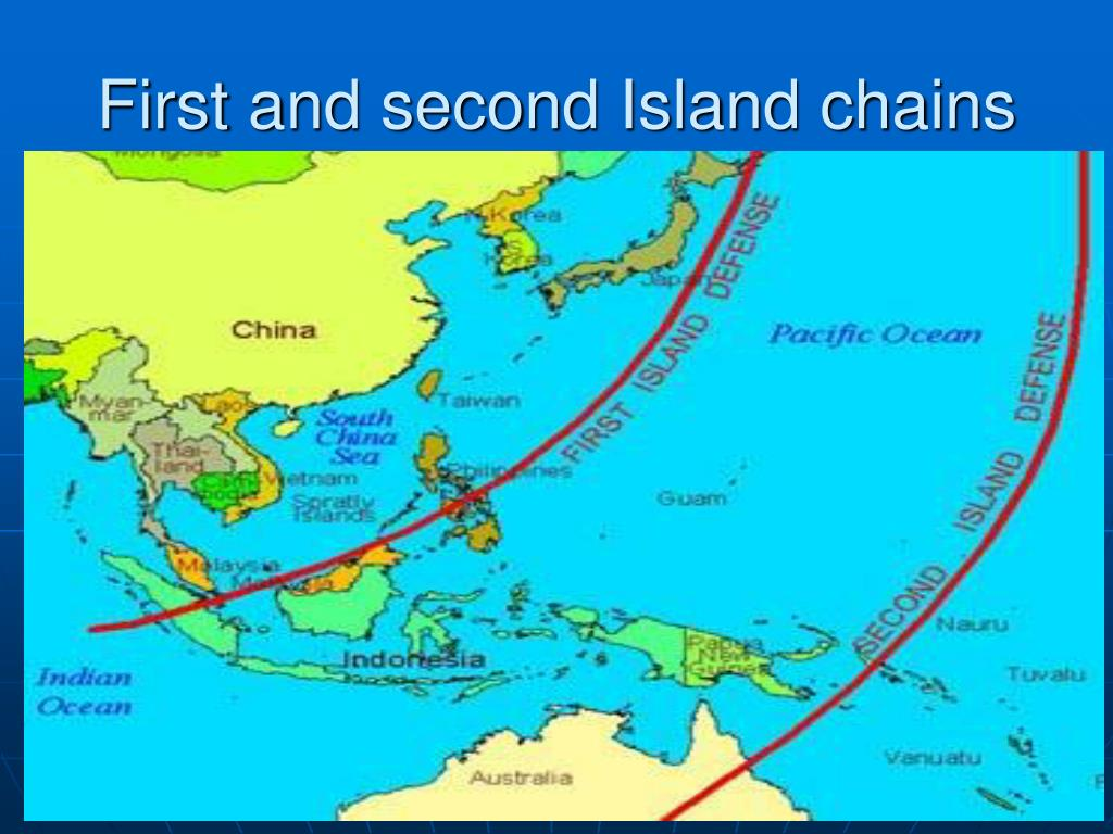First and second Island chains