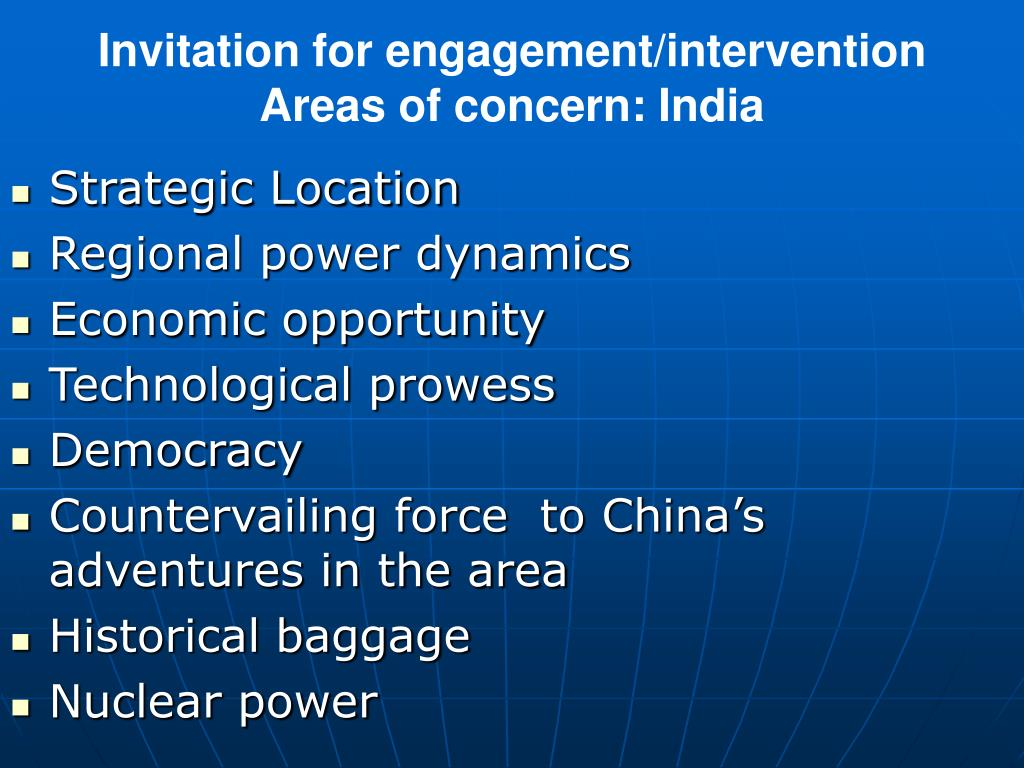 Invitation for engagement/intervention