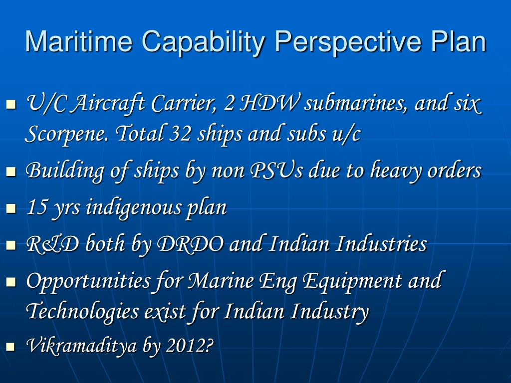Maritime Capability Perspective Plan