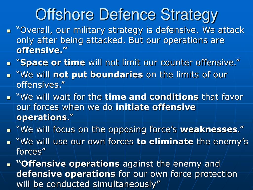 Offshore Defence Strategy