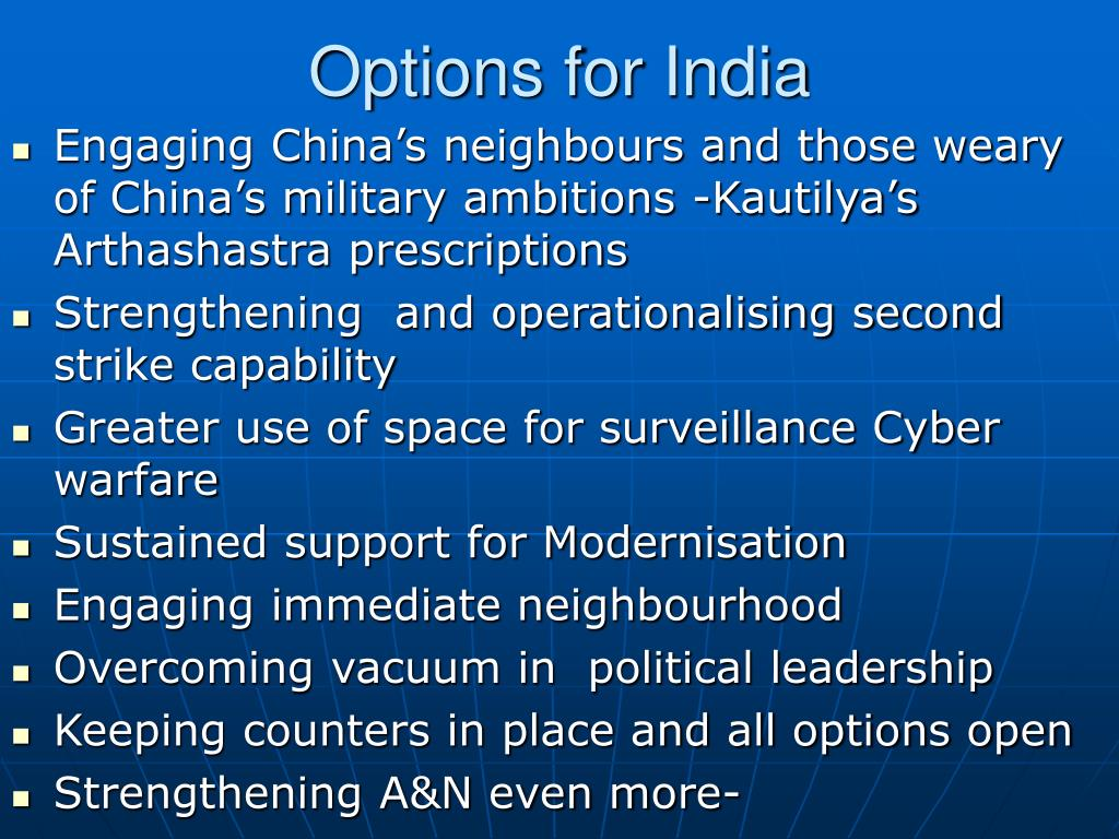 Options for India