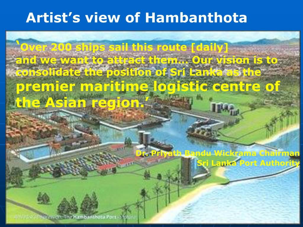 Artist's view of Hambanthota