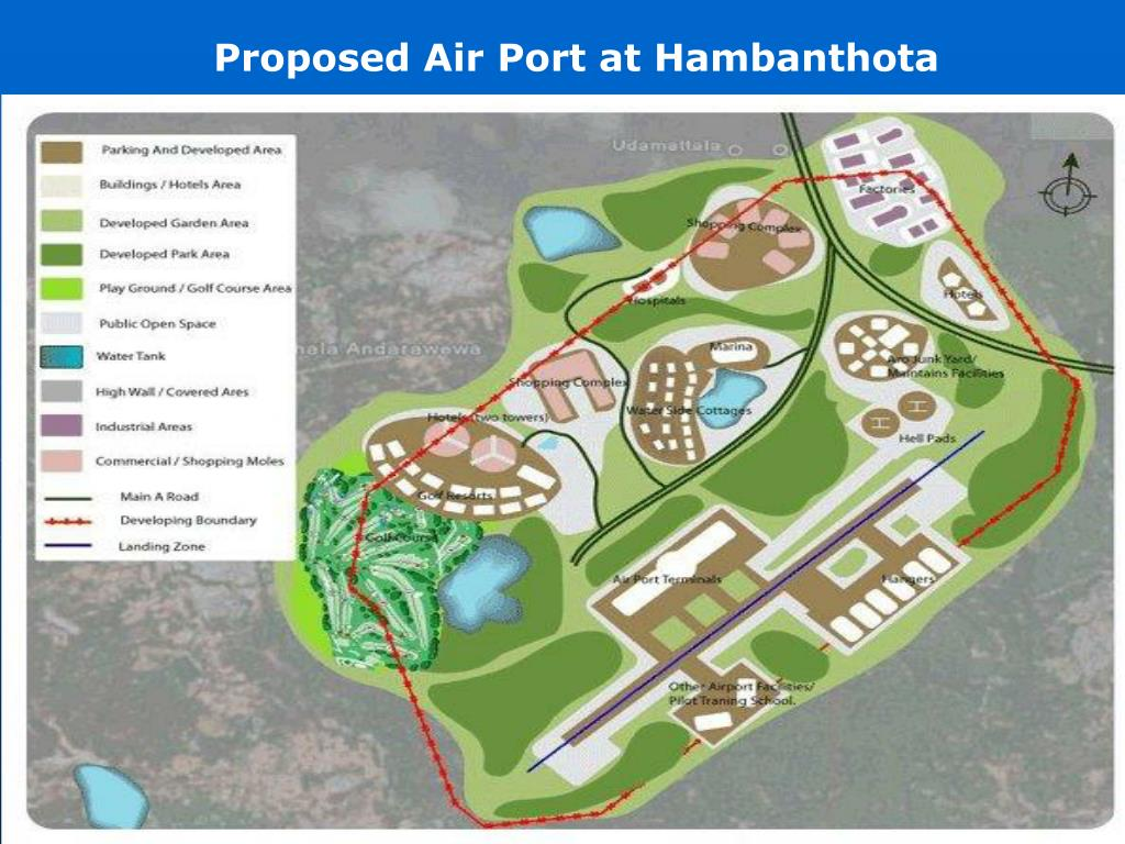 Proposed Air Port at Hambanthota
