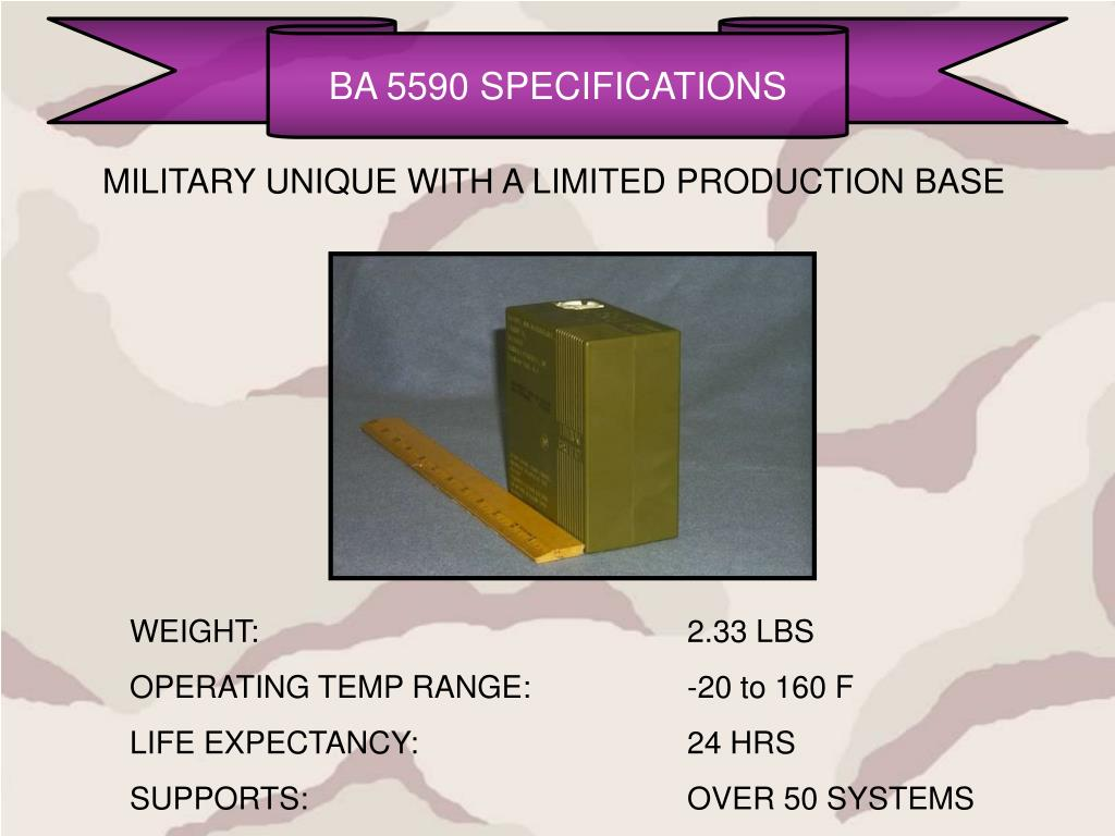 BA 5590 SPECIFICATIONS