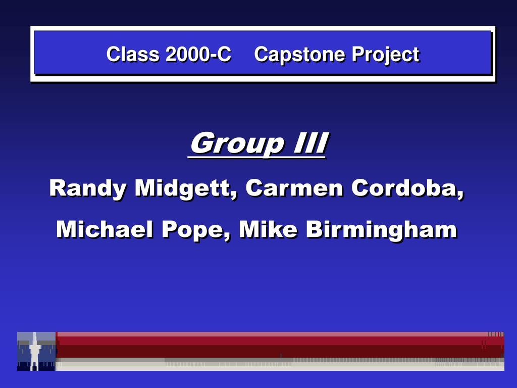 Class 2000-C    Capstone Project