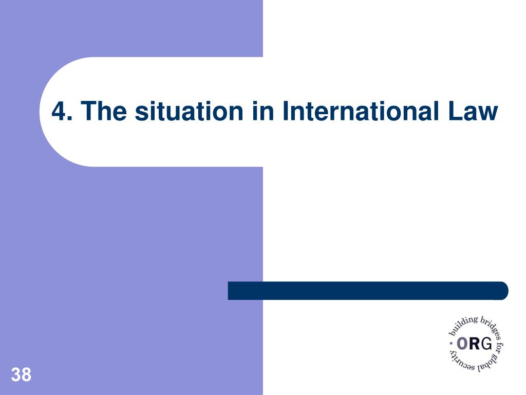4. The situation in International Law