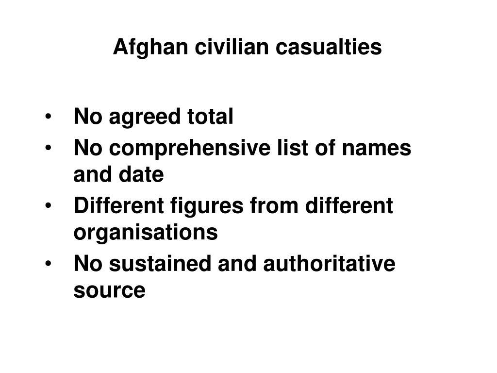 Afghan civilian casualties