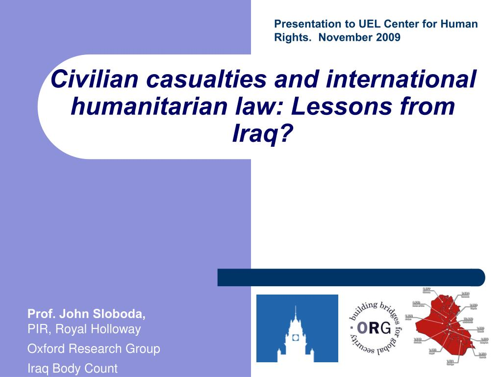 civilian casualties and international humanitarian law lessons from iraq