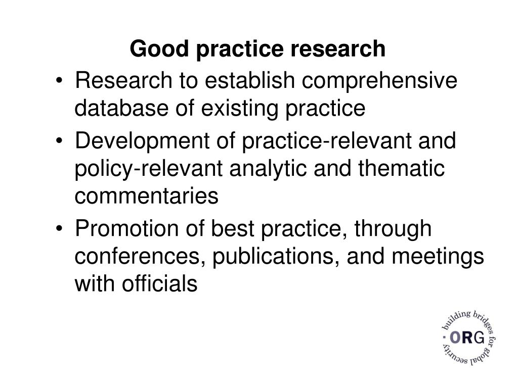Good practice research