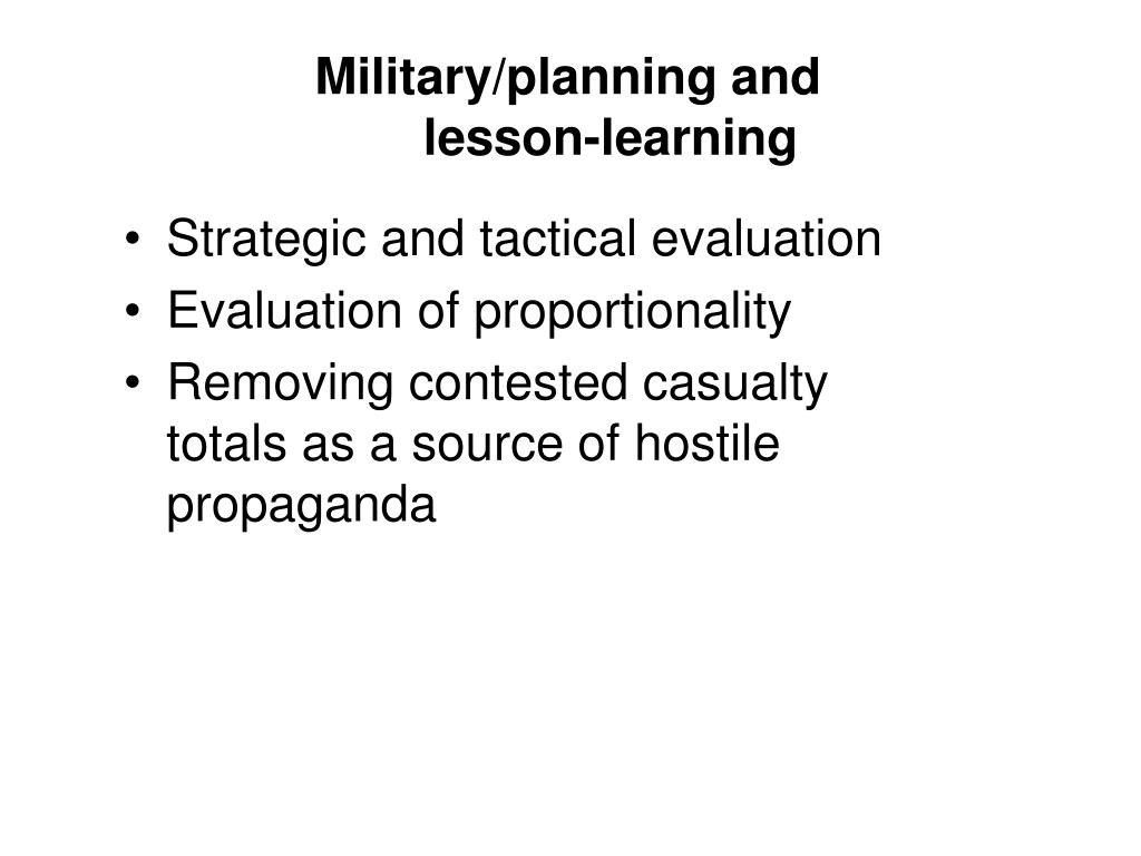 Military/planning and